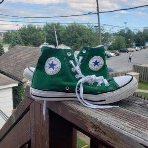 Green Green Converse Chuck Taylor's